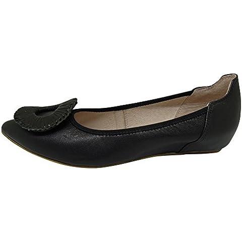 Casual de mujer zapatos de moda de lujo lindo deslizamiento en piel de oveja zapatos Ballet Danza zapatos con cuero planos 1602-02