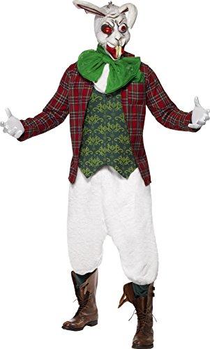 wütiger Hase Kostüm, Jacke mit angesetzter Weste, Halstuch und Fliege, Hose und Maske, Größe: L, 23019 (Super Einfach Adult Halloween-kostüme)