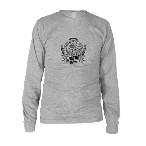 Langarm T-Shirt, Größe: XXL, Farbe: grau meliert (Jabba The Hutt Kostüme)