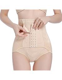 GUOCU 2 en 1 Fajas Postparto Soporte Transpirable Elástico Vientre Recuperación Vientre/Cintura/Pelvis Cinturón Shapewear Braga para Mujer
