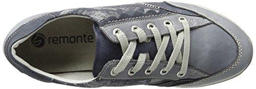 Remonte D1808, Scarpe da Ginnastica Basse Donna Blu (Jeans/atlantis/hellgrau/jeans / 14)