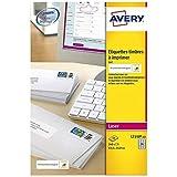 AVERY - Pochette de 240 étiquettes autocollantes ''Montimbrenligne'', Personnalisables et imprimables, Format 63,5 x 33,9 mm,