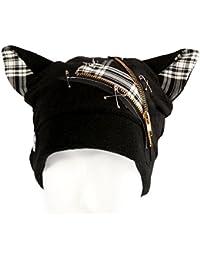 Hana Arashi Katzenmütze Zipper Punk schwarz