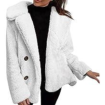 Mambain Giacche Giubbino Donna Eleganti Cappotti Invernale Caldo Taglie  Forti Manica Lunga Tinta Unita Cardigan Piumino 88d3663b26c