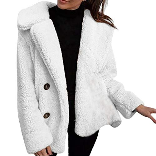 CUTUDE Mantel Damen, Frauen Beiläufig Warm Parka Jacke Winter Jacken Coat Outerwear (Weiss, M)