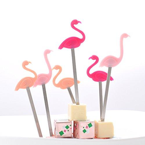 lamingo Party Picks Party-Picks-Spieße-Picker 6 Stück Multi-Use-Kuchen Topper Sticks Cocktail Supplies - Ideal für Partys - Hergestellt aus Silikon und Edelstahl ()