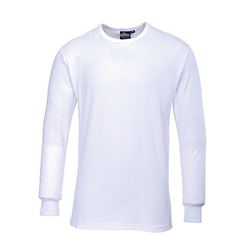 Portwest B123WHRM T-Shirt Termica Manica Lunga, Bianco, Medium