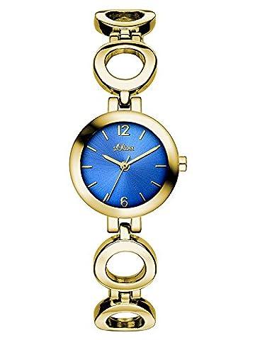 s.Oliver Damen-Armbanduhr Color Clash Analog Quarz Alloy