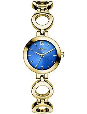 s.Oliver Damen-Armbanduhr Color Clash Analog Quarz Alloy SO-3070-MQ