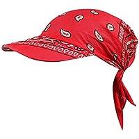 Beladla Sombrero Mujer Vintage Floral Personalidad Casual Tapa del Turbante Ocio Gorra De BéIsbol