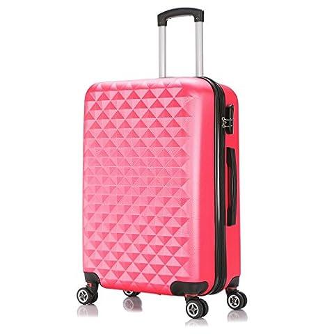 EUGAD Reisekoffer Harschalenkoffer 4 Rollen mit erweiterbaren Volumen Reise Koffer