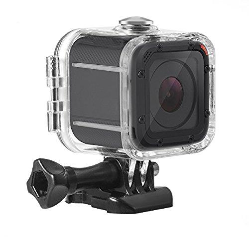 Galleria fotografica Kupton Custodia Impermeable Protettiva per GoPro Hero 5 Session Custodia per Subacquea Fino a 45m con Presa Mobile Rapida e Vite per Go Pro Hero 5 Session & Hero Session Case