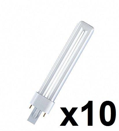 10x Osram DULUX S Kompaktleuchtstofflampe G23 - (11W/827 G23 - 237mm - Interna)