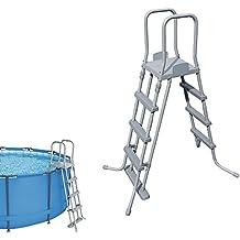 Bestway 58097 - Escalera con plataforma para piscinas elevadas, 122 cm