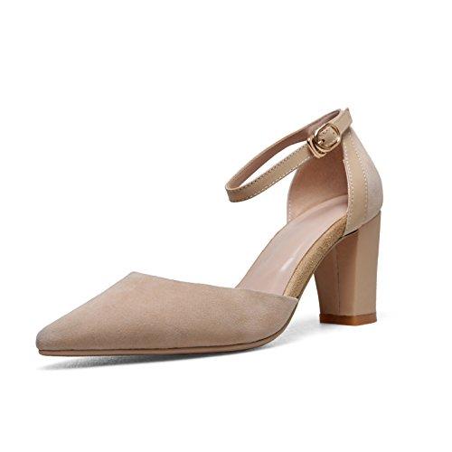 CXKS® Sandales à Talons Haute Couture Femmes Chaussures Chaussures à Bride en Daim Chaussures Femme Bureau