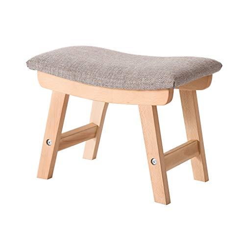Annp Massivholz Hocker, Haushalt Holzhalle ändern Schuh Bank Schlafzimmer Kind Esszimmer Hocker Niedriger Hocker (Color : #3) -