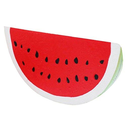 """DOLDOA Panda Squishy Langsam steigende Dekompression Squeeze Spielzeug (Rot,Wassermelone,7.08"""" x 3.54"""")"""