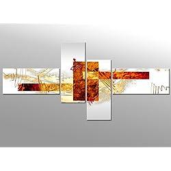 Arte abstracto V - 140x65cm 4 partes - Listo tensa. bastidor imagen - Cuadros en Lienzo trípticos