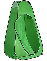 Neewer 6 pies/183 cm Pop Tienda cambio ropa fotografia portátil al aire libre privacidad refugio ducha inodoro montaje tienda de vestir para Camping Senderismo Parque Playa con bolsa de transporte con cremallera (verde brillante)