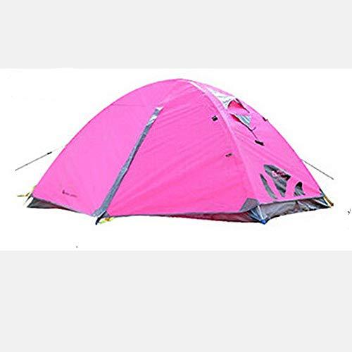 ZJQN Zeltfach Doppel-Aluminiumstange Camping Outdoor Camping-Zelt,Pink