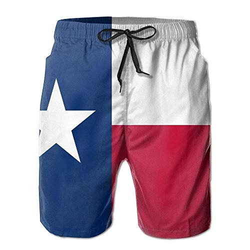 Cherokee Floral Uniform (cleaer Texa Flag Men's Beachwear Shorts Beach Pants Swim Trunks Small)