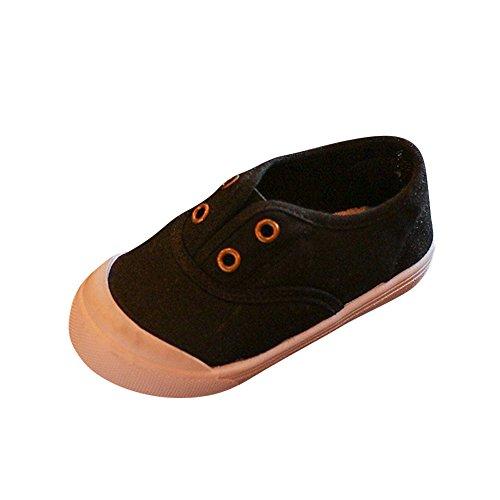 Inglesa Lona Tintada Punt Zapatillas Niños Zapatillas de Deporte de Tela Negro 2 29