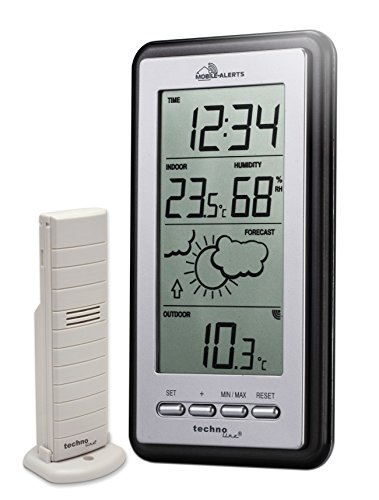 Stazione meteo Smart Home Technoline, Mobile Alerts, argento/grigio, 8,2x2,3x15 cm, MA10430