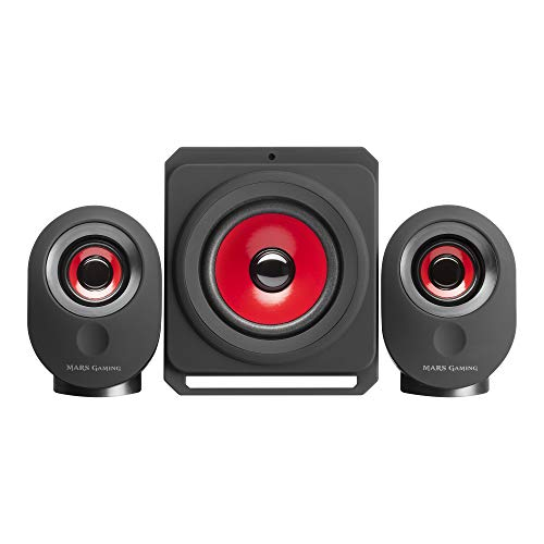 Mars Gaming MSX, altavoces PC 35W, 5 modos multimedia, subwoofer 2.1, Jack...