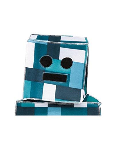 Retro Roboter Kostüm (Retro Roboter-Kopf Mütze für Kinder blau-weiss)