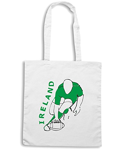 T-Shirtshock - Borsa Shopping TRUG0029 ireland rugby style light logo Bianco