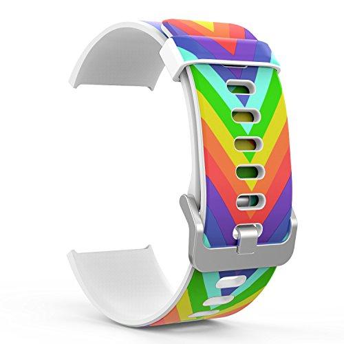 MoKo Fitbit Blaze Watch Bracciale, Morbido Cinturino Sportivo di Ricambio in Silicone con Spillo per Fitbit Blaze Smart Fitness Watch, Arcobalena Colorata V