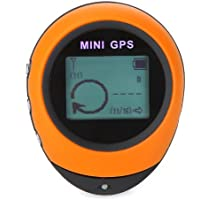 Docooler PG03 Portable Mini GPS with Keychain for Outdoor Sport Wild Explorers Yellow