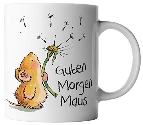 vanVerden Tasse Guten Morgen Maus, Farbe:Weiß/Bunt