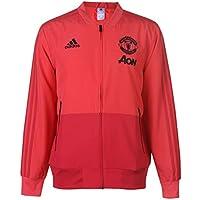 adidas MUFC Pre, Felpa Uomo, Core Pink/Blaze Red/Nero, M