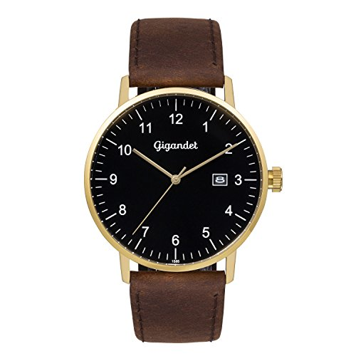 Gigandet Minimalism Men's Analogue Wrist Watch Quartz Gold Brown G26-002