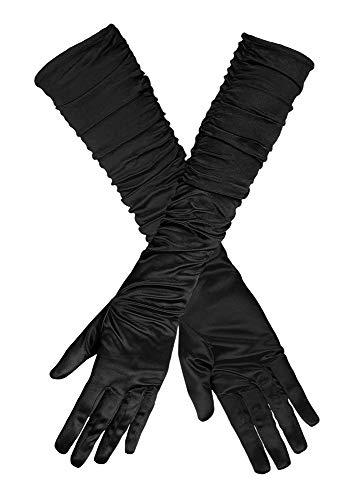 Handschuhe Hollywood Satin Schwarz für Damen ca. 40 -