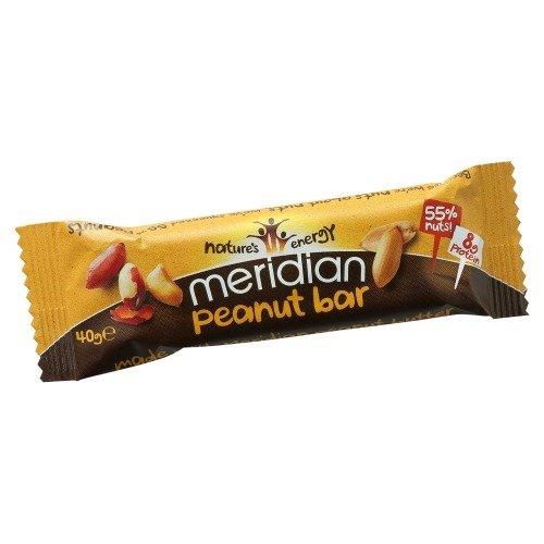Meridian Foods Peanut Bars Butter, 40 g (Food Bar Peanut Butter)
