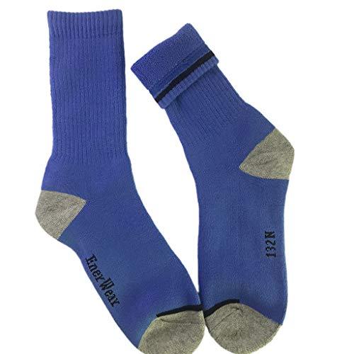 Schwere Kissen Socke (FOANA 10 Pairs Herren Baumwoll Feuchtigkeitstransport Extra schwere Kissen Crew Socken)