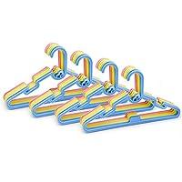 ZYBUX - 40 x Baby Kids Children Plastic Hangers Coat Clothes With Stackable Hook