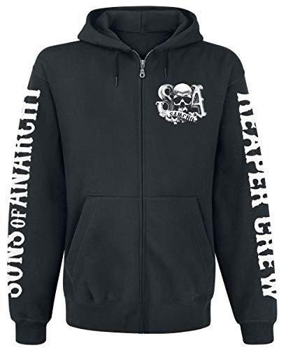 Sons of Anarchy Zipper Men - REAPER CREW - Black, Größe:XL