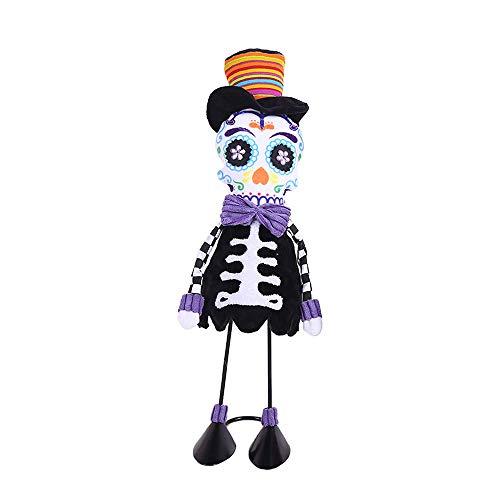 Tanz Kostüm Modellierung - vijtian Halloween-Kostüm-Requisiten, Schaukelschädel, kreatives Tanz, Requisite und schöne Modellierung B