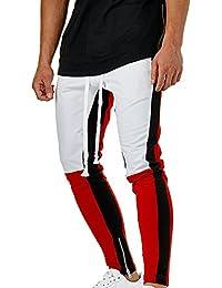 Pantalón para Hombre Cargo Slim Jogging Casual Pantalones Largo de Chándal  Tether Atléticos Deporte Jogging Pantalones 62ce62a5d214