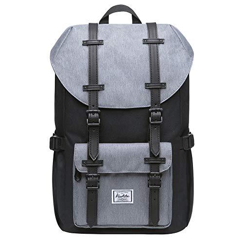 KAUKKO Rucksack Studenten 17 Zoll Backpack für 15
