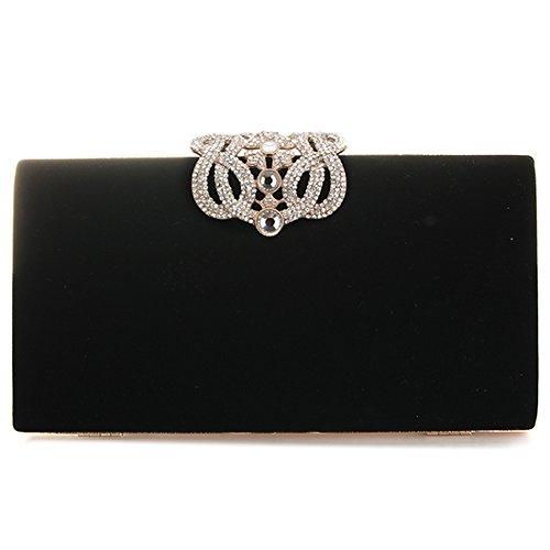 Abendtasche, Damen Mode Party Tasche und Kupplungen Luxus Designer Tasche (schwarz) (Abend Schwarze Tasche)