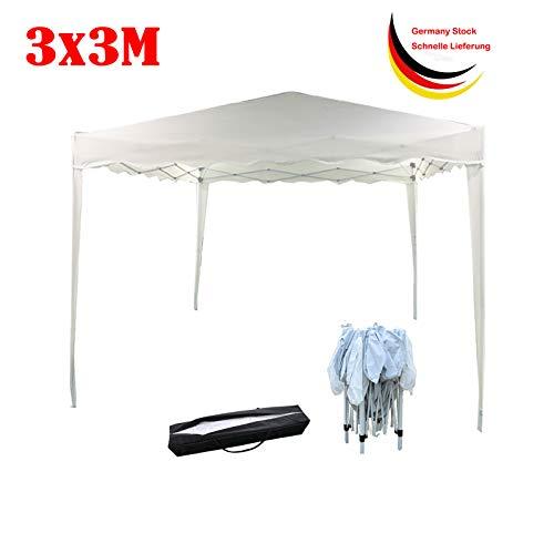 Xinng 3x3m Draussen Beige Wasserdichtes Pop-up Pavillon Überdachungs Zelt mit Tragbarem Faltpavillon Handels Pavillion der Tragetasche für Partei Hochzeit