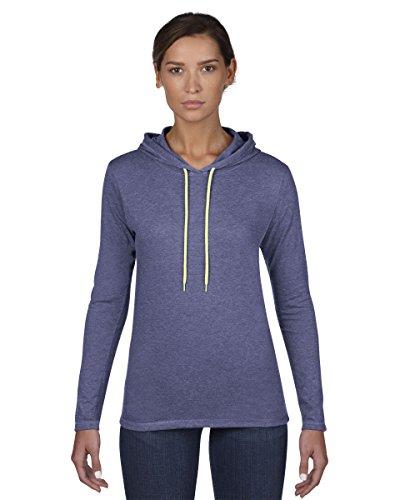 Anvil-L/SL-Maglietta con cappuccio Navy/Dark Grey