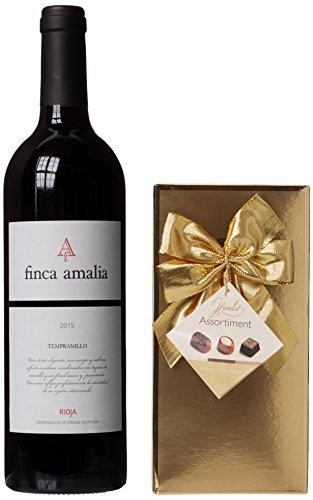 Set de vino tinto y chocolates presentado en una caja de regalo - Regalos de vino para él - Ideal para cumpleaños, como agradecimiento y otras ocasiones especiales - Cestas de vino y chocolate