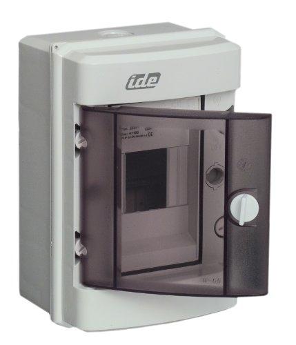 Unitec 47100 Kleinverteilung, Aufputz, IP 55, 1 x 4 Module, grau