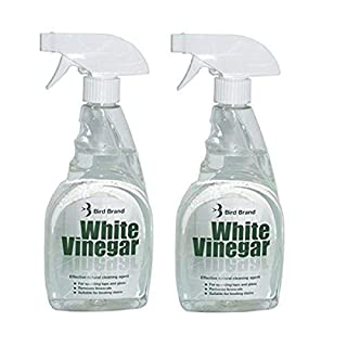 2 X 500ML White Vinegar Cleaning Solution Limescale Glass Cleaner Stain Remover Trigger Spray Bottle
