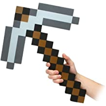 Think Geek Minecraft Pick Axe Foam Weapon Action Figure Accessory